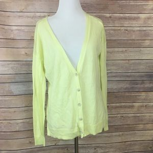 GAP Neon Green Cardigan